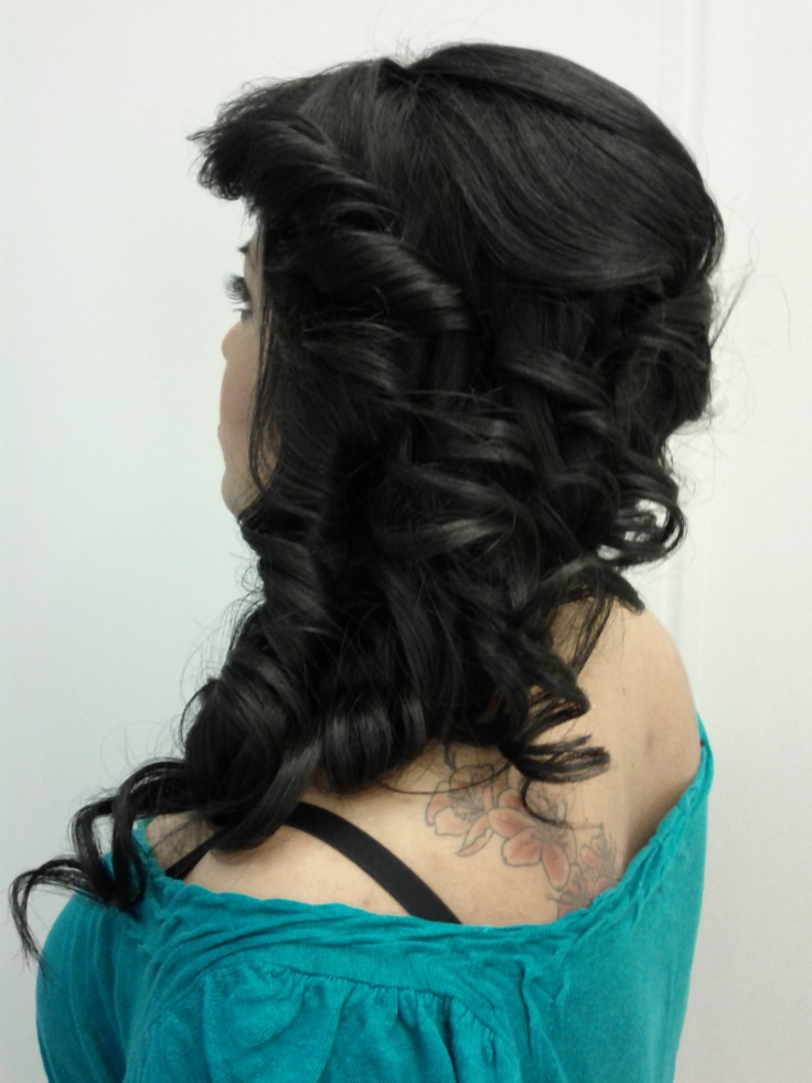 Black hair with a bridal style is SEXY & EDGY!