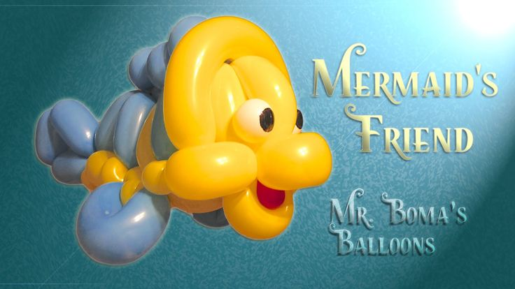 Mermaid's Friend Fish Balloon Animal Tutorial (Balloon Twisting and Mode...