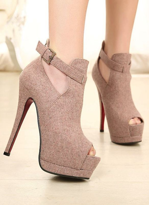 278223ff633 Women cut out strap Faux Suede -  FOLLOW ME ! -  shoesheavenusa.weebly.com  -  Most beautiful shoes in the world ! -  Shoes