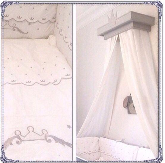 Cibinlik ve taçlı uyku seti , nurserydecor