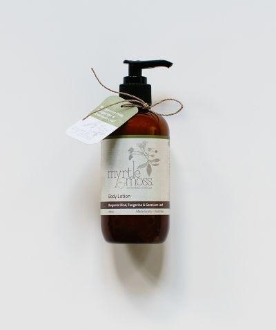 Body Lotion – Bergamot Rind, Tangerine & Geranium Leaf 250mL at Myrtle & Moss