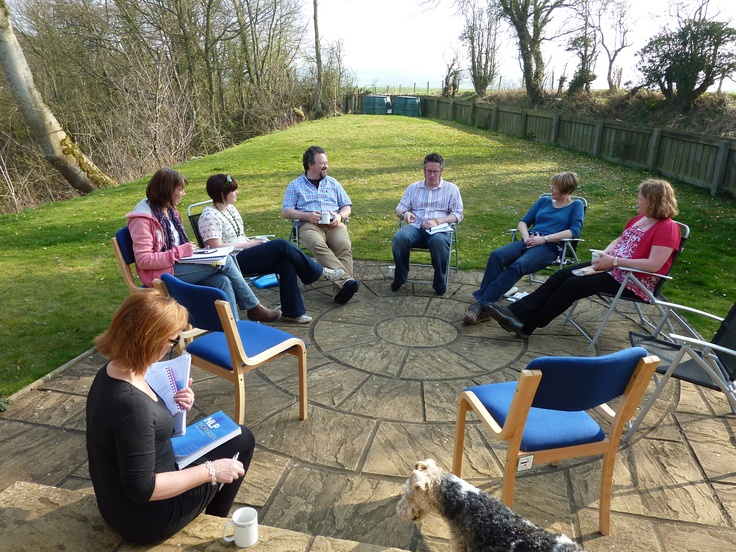 One of our lovely outdoor training spaces, where our NLP Practitioner Training delegates enjoy their learnings.