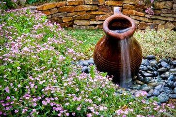 clay pot water fountain | 1,644 pot fountain Rustic Home Design Photos