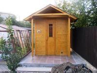 Venkovní sauna na zahradě