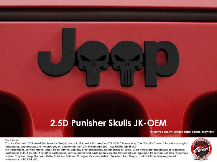 #CuzitsCustom 2.5D Punisher Skulls JK-OEM