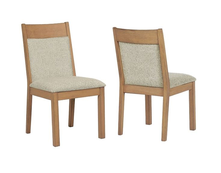 Douglas by Coaster 107212 Rustic Vintage White Oak Dining Chair