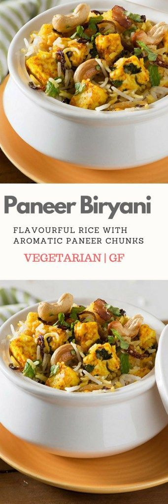 Paneer Biryani is the perfect healthy, vegetarian one pot meal recipe that is gluten free too. This delicious dish made with flavourful paneer or Indian cottage cheese in aromatic rice served with plain yogurt is delicious and easy Indian lunch recipe.