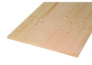 Tischplatte Fichte Oberfläche geschliffen, Kanten abgerundet 1800 x 800 x 28 mm - Globus-Baumarkt Shop