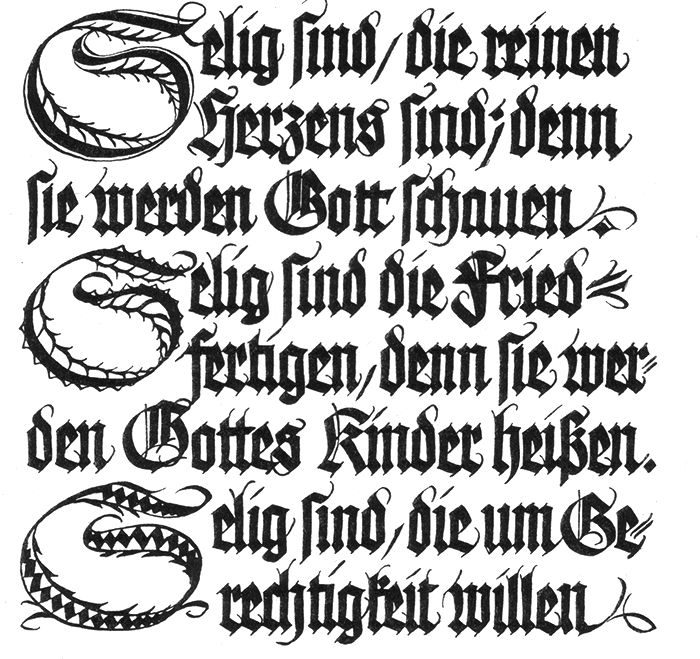 Texto de Rudolf Koch.