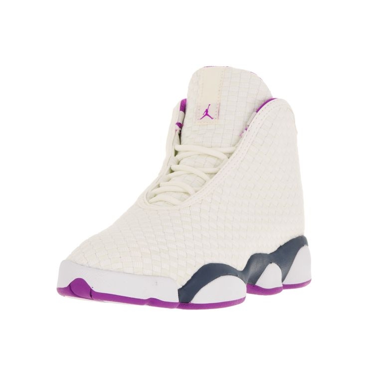 Prep your hoops star for the court with these Nike Jordan basketball shoes for kids. The textured high-top style makes these shoes suitable for everyday wear beyond the court for comfortable, protecti