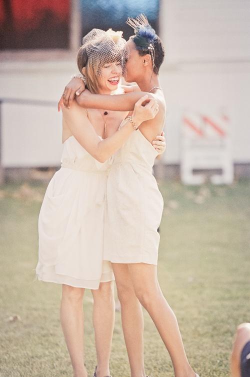 lesbian wedding short dresses