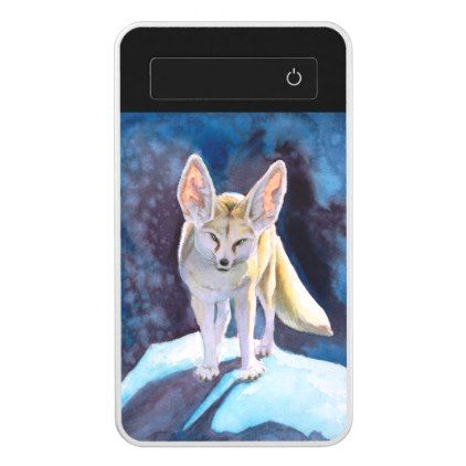 Fantasy Ice Fennec Fox Power Bank - animal gift ideas animals and pets diy customize