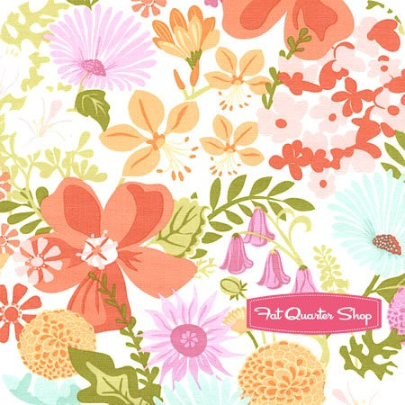 Honey Honey Sunset on Linen Wayside Garden Yardage SKU# 27141-11 - Fat Quarter Shop