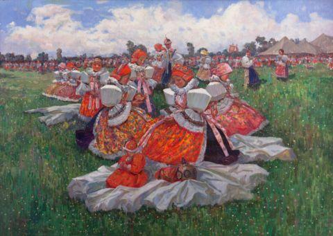 Šebek Jan (1890–1966) | At the Fair | Aukce obrazů, starožitností | Aukční dům Sýpka