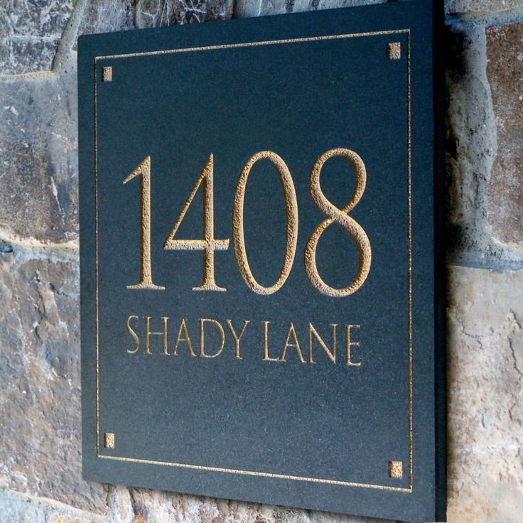 Amazon.com : Engraved Stone Address Plaque. These plaques are made from solid, real stone : Patio, Lawn & Garden
