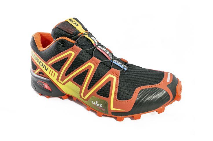 Tenis Salomon Speedcross 3 356749 Naranja Con Negro