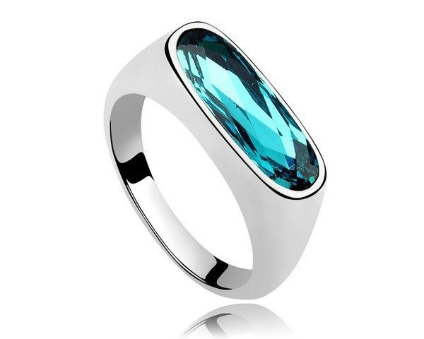 Ring With Blue Stone Made With Swarovski Elements Crystal Unique Jewelry Hot Rings For Women Men Punk Ring Hot Jewellery RJZ0009-in Rings from Jewelry on Aliexpress.com | Alibaba Group