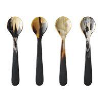 ALFREDO Horn spoons, 4 pcs.