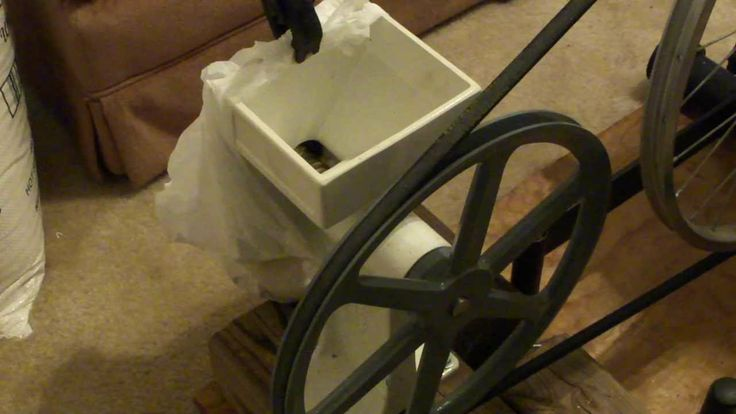 Country Living Grain Mill hooked to 21 speed  Bicycle
