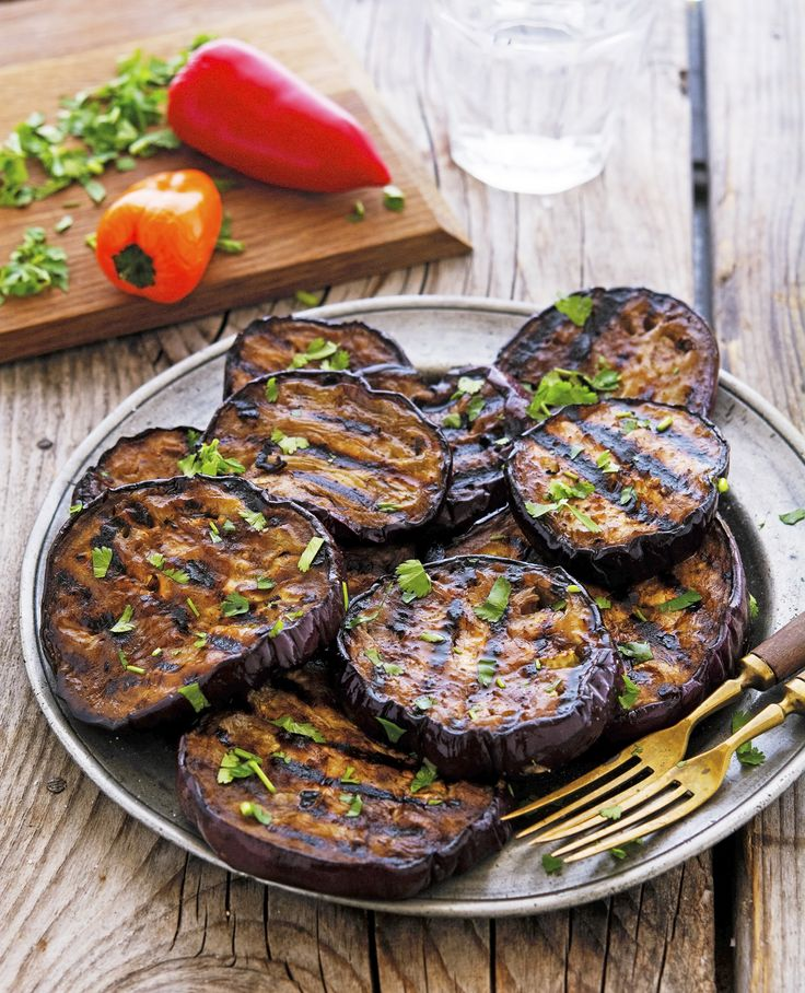 Balsamic Marinated Grilled Eggplant | Sounds likes great side to a grilled steak served with Italian salsa verde for a family BBQ | #5Shift #AltShiftDiet