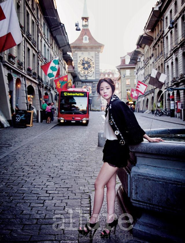 Additional Spreads Of Han Ji Min In Allure Korea's July 2013 Issue : Couch Kimchi