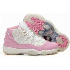 Buy new womens jordan 11 white/pink basketball shoes