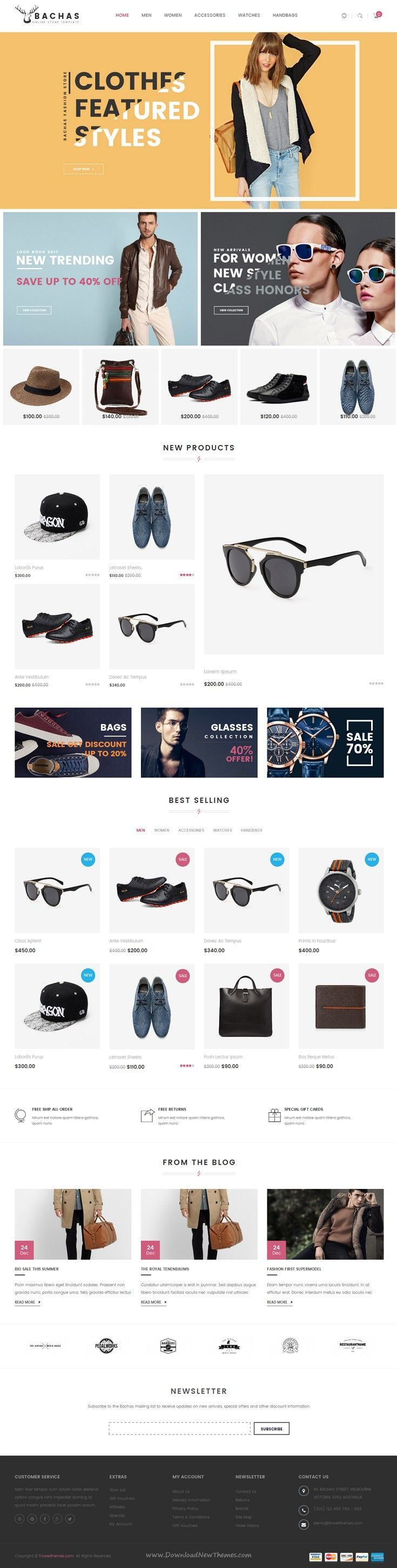 Bachas is flat & responsive #Prestashop Theme for multipurpose #eCommerce #website. Download Now!