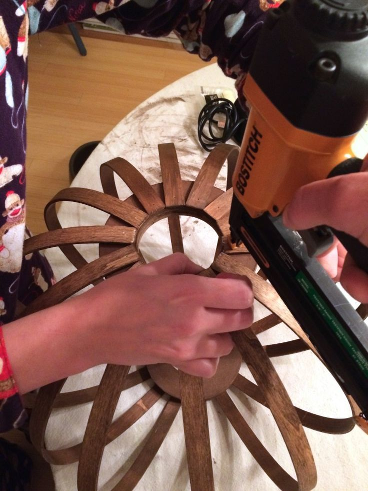 West Elm Knock Off ~ DIY Bentwood Pendant Tutorial Knock off Decor #DIY Knock Off Pottery Barn