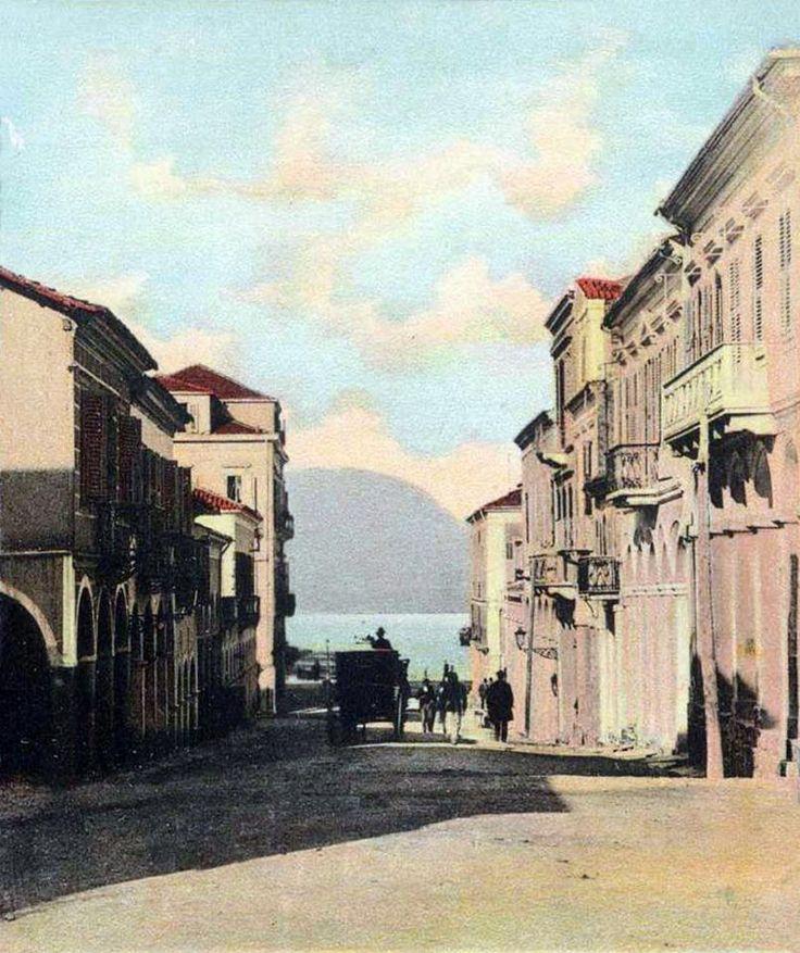 Πάτρα, αρχές 20ου αιώνα, οδός Κολοκοτρώνη.