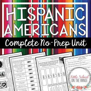 Hispanic Heritage Month - Hispanic Americans: Completely revised for the new school year! This unit will keep your students engaged while celebrating Hispanic Heritage month. This complete no-prep unit includes the following individuals: o David G. Farrag