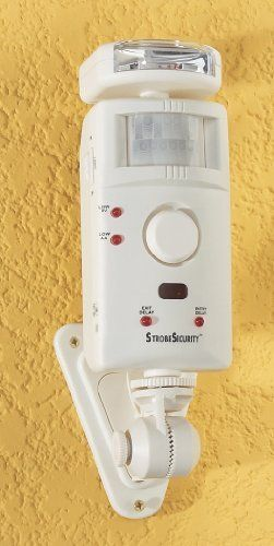 Motion Sensor Alarm with Strobe by STOBESECURITY.