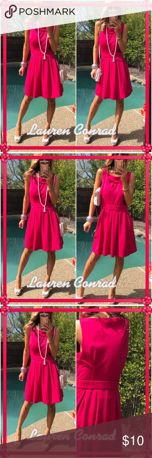 🎉LC🎉 Talk about spring ready and color- this vibrant dress is all about comfort as is LC-now style front, lots of coverage for comfort. Just everyday fabulous piece to have. Great condition practically new- bigger size clipped for better photo. Use size chart online for measurements👍 LC Lauren Conrad Dresses Midi