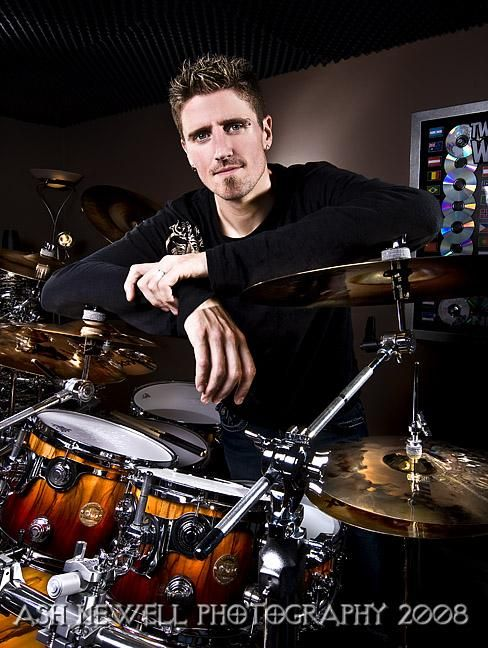 Daniel Adair ~ Nickelback ....one of the best drummers around taken by one of the best photographers around! ❤