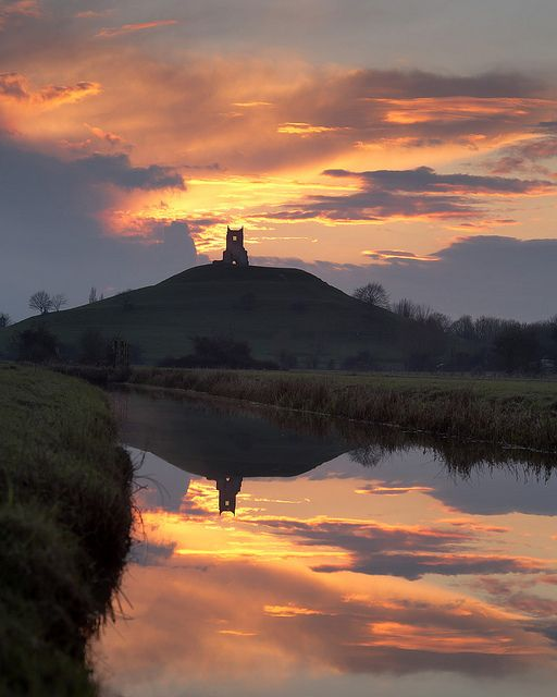 Burrow Mump Somerset Level ...up from where I live...I love it here :-)