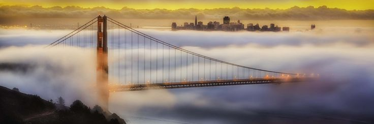 10. Huggen Angeles  This early morning image was taken from the Marine Headlands across San Francisco, CA on September 2013. My imagination was captivated by the City that appears to be floating and being carried by the fog in the background. It was a golden sunrise at the Golden Gate Bridge!