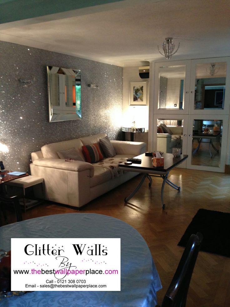 8 best ideas for the house images on pinterest glitter for Glitter wallpaper bedroom ideas