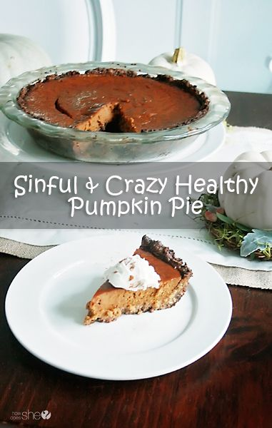 Food and Drink.  Nothing says fall like pumpkin pie.  Check out this gluten free, dairy free, AND sugar free recipe.  And, it's still pretty delicious!