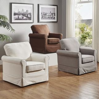 Shop for Fallon Rolled Arm Cotton Fabric Swivel Rocking Chair by TRIBECCA HOME. Get free shipping at Overstock.com - Your Online Furniture Outlet Store! Get 5% in rewards with Club O! - 20742637