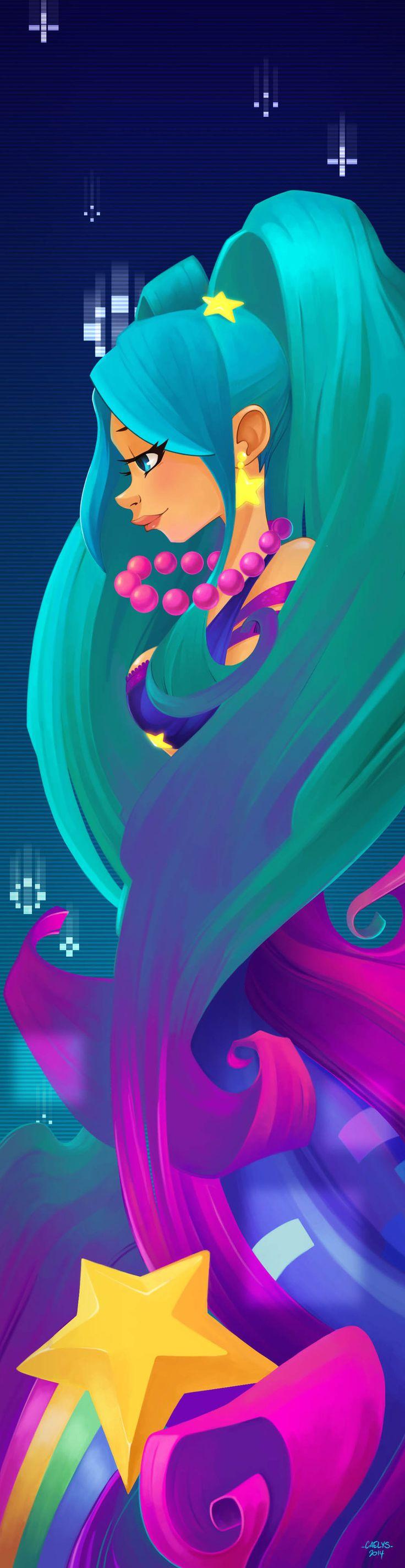 Arcade Sona by Caelys-illustrations.deviantart.com on @DeviantArt