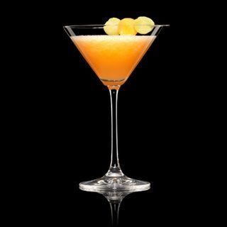 Melon Martini - Vodka, Melon (Cantaloupe & Honeydew), Strawberries, Cointreau, Midori ...yum