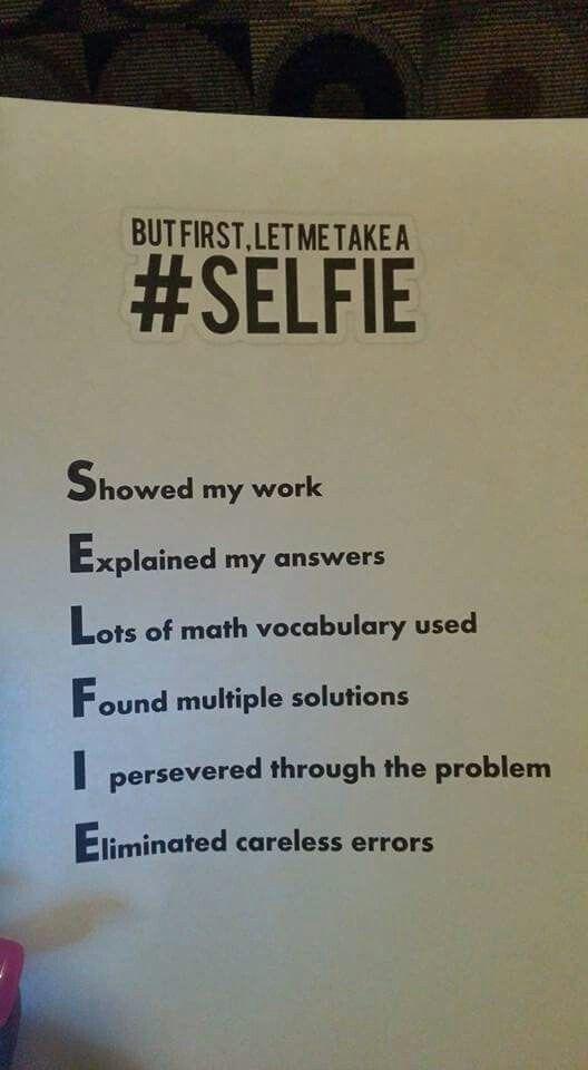 Math reflection idea.
