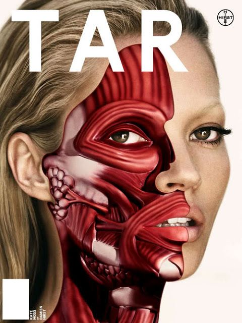 Kate Moss by Damien Hirst for Tar issue no. 2, Spring/Summer 2009.