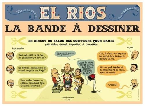 """Focus - le Vif talks about """"El Rios"""". Le 3ème numéro d'El Rios vous présente la crise politique belge … en BD - Livres-BD - Focus Vif - FocusVif.be"""