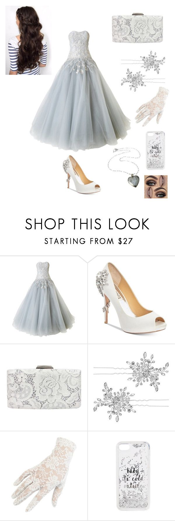 """Untitled #78"" by skyepicness on Polyvore featuring Marchesa, Badgley Mischka, Sondra Roberts, Matthew Williamson, Black and Kate Spade"