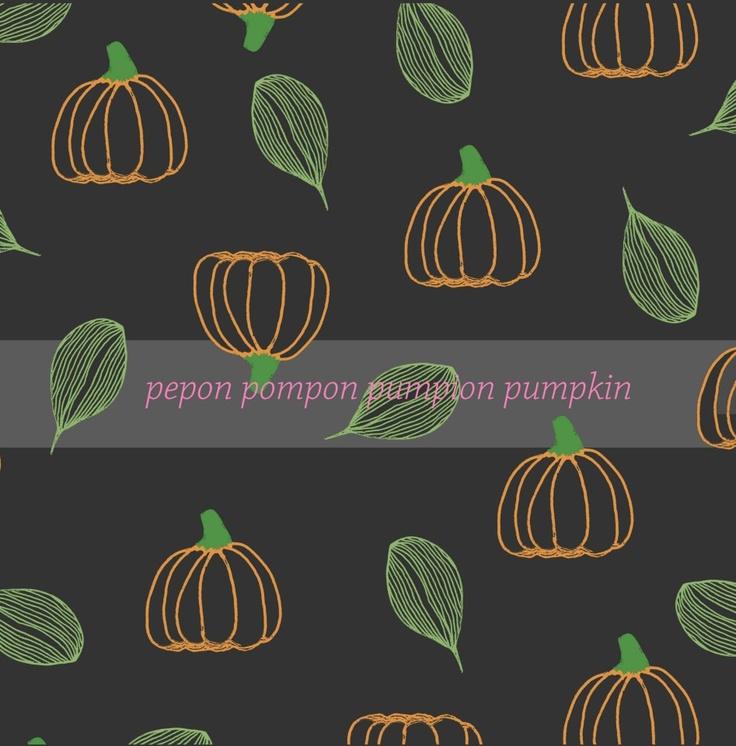 #illustration #pattern #Halloween #pumpkin #pumpkins #dark #orange #green #autumn    /by Taki Trik