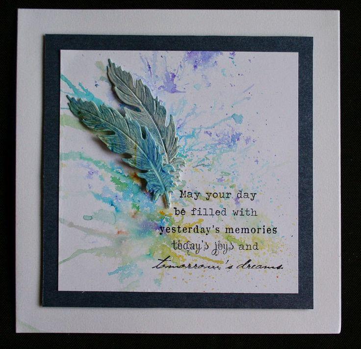 Brushos meets hotp freebie feather die & stamp