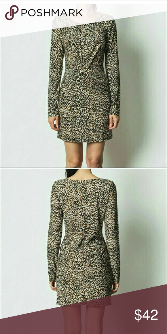 Bodycon Dress CHEETAH with TAGS Slinky, form-flattering, Camel Colored Dress Dresses Midi