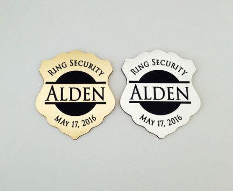 Ring Security, Ring Bearer Gift, Ring Bearer Security Badge, Personalized Ring Bearer Badge, Groomsmen Gifts, Wedding Gift, Badge Design