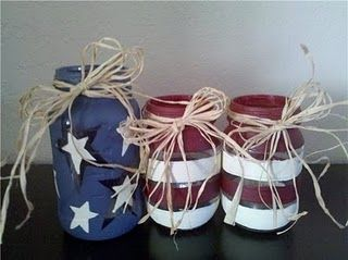 Red White and Blue jars