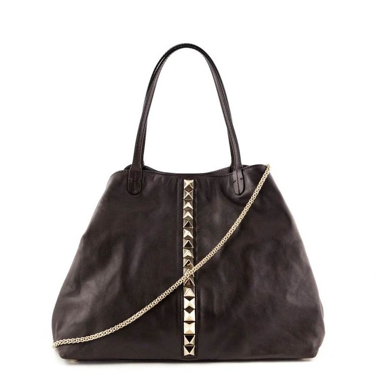 Valentino Dark Brown Calfskin Va Va Voom Tote - LOVE that BAG - Preowned Authentic Designer Handbags - $850 CAD
